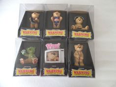 "Lot of 6 Bad Taste Bears ""Warning Contents May Offend"" New in Box #BadTasteBears"