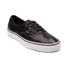 Black sequined vans Alittle dirty around sole area, but can be cleaned. Vans Shoes