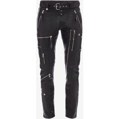 Alexander McQueen Biker Leather Pants ($4,095) ❤ liked on Polyvore featuring men's fashion, men's clothing, men's pants, men's casual pants, black, mens snap pants, mens leather biker pants, mens zipper pants, mens zip off pants and mens leather pants