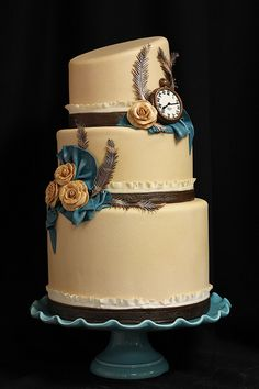 Kat Steampunk Wedding Cake by Amanda Oakleaf Cakes, via Flickr