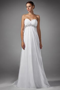 Modern Chiffon Sweetheart Empire Wedding Dress