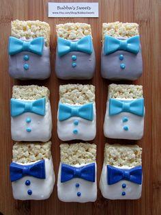 BOW TIE Rice Krispy Treats (12) - Little Man Birthday/Little Man Shower/First Birthday/Bow Tie Favors
