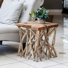"""Handcrafted from driftwood teak. Product Description • Product Dimensions: Approx 19"""" Wx 22"""" H • Material: Teak Wood • Shape: Square • SKU: 47233 • Brand: Garden Age Supply Returns & Exchanges Non-returnable. Damaged items will be replaced. See full return policy Driftwood Furniture, Driftwood Projects, Rustic Furniture, Furniture Decor, Living Room Furniture, Furniture Design, Antique Furniture, Modern Furniture, Outdoor Furniture"""