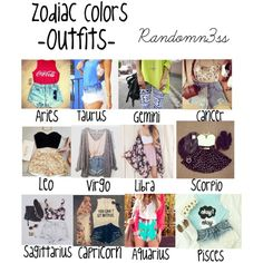 Zodiac Colors -outfits- by randomn3ss on Polyvore featuring moda and Forever 21