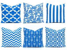 Royal Blue Pillow Covers, Royal Blue Pillows, Cobalt Pillow, Decorative Throw Pillow Cover, One Royal Blue, Cushions, Royal Blue Chevron by CompanyTwentySix on Etsy https://www.etsy.com/listing/235452658/royal-blue-pillow-covers-royal-blue