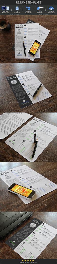 Resume Template PSD. Download here: http://graphicriver.net/item/resume-template/14683279?ref=ksioks