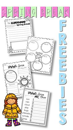 Who's ready for Spring break? These free printables are perfect for those crazy days before the holiday.