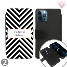 Shapes Collection Personalised Flip Wallet Phone Case - 2