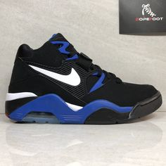 bb63cb353a DS Nike Air Force 180 Size 9/Size 10/Size 11 Black/Royal Blue 310095 011