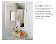 good use of small space, using the inside of a cupboard door can be really useful
