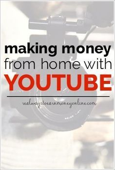 Do you need to earn money from home? Do you enjoy being on camera? If so, you may want to think about starting your own YouTube channel. It can be fun, and you'll make money, too! Making Money, Making Money Ideas, Making Money Online Career Advice, Career Tips