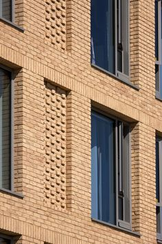 The most popular building block material in architecture doesn't have to be boring. If you're scouting for new office space, apartment, or thinking of building a… Brick Design, Facade Design, Exterior Design, Brick Masonry, Brick Facade, Brick Houses, Brick Wall, Building Facade, Building Exterior