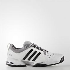 f625c164c Adidas Barricade Classic Wide 4E Shoes (Running White Ftw   Black   Mid  Grey)
