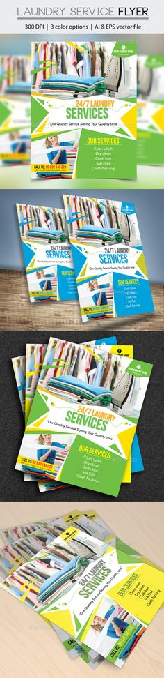 Laundry Service Flyer Laundry Service Laundry And Flyer Template