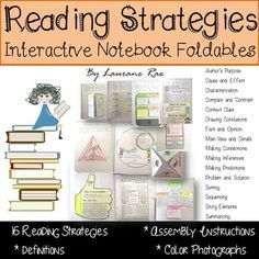 Scaffold+the+learning+of+16+essential+reading+strategies+with+this+fun+and++engaging+interactive+notebook+foldable+resource.+SUGGESTED+USE:1.+Each+reading+strategy+template+features+a+definition.+Students+can+write+this+explanation+in+their+notebooks+and+frame+an+'I+Can'+statement.+2.