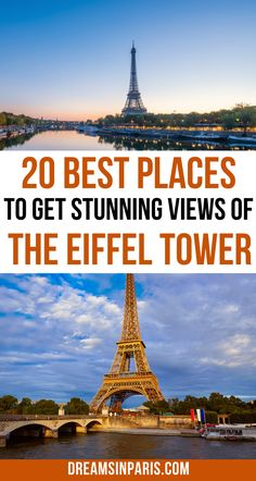 Want to take in spectacular views of the Eiffel Tower but not sure where to go? This post will show you all the best viewpoints in Paris to see the Eiffel Tower. | where to get the best views of the eiffel tower| best views of the Eiffel Tower| Best Eiffel Tower views| stunning views of the Eiffel Tower in Paris| views of Eiffel Tower| Eiffel tower views in Paris| best Eiffel tower photo spots| best Eiffel tower photos| Paris viewpoints Road Trip Europe, Europe Travel Guide, France Travel, Day Trip From Paris, Visit France, Secret Places, Paris Photos, Future Travel, Stunning View