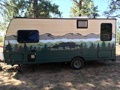 Custom Campers, Old Campers, Camper Life, Diy Camper, Coleman Campers, Paint Rv, Travel Trailer Remodel, Camper Makeover, Camper Renovation