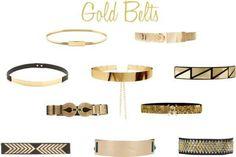Gold belts