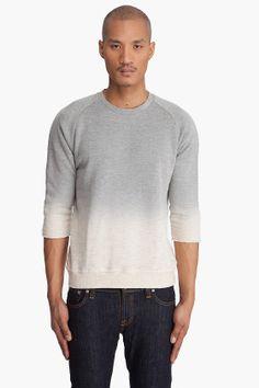 robert geller  dip dye sweatshirt
