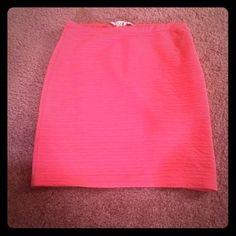 Hot Pink Skirt Ruffled hot pink skirt. #spring #summer #skirt #hotpink #ruffles Forever 21 Skirts Midi