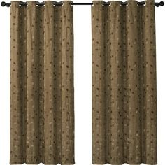 VCNY Jasmine Embroidered Blackout Single Curtain Panel Color: Chocolate/Cappuccino