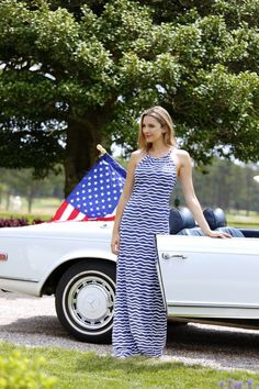 The Ginger Maxi is the perfect dress for all your parties this 4th! #IndependenceDay #RedWhiteAndBlue #ACK