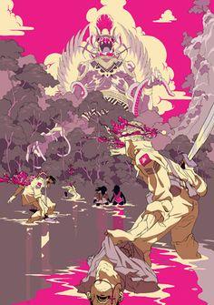 Tomer Hanuka New york illustrator - japanese/manga influence