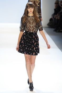 really great mix of formal and casual elements.  Jill Stuart F/W '12