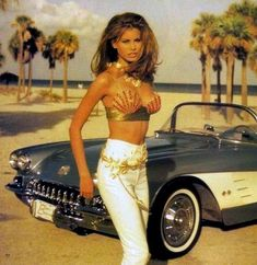 Raquel Welch looking gorgeous in front of the cool corvette, Raquel Welch, Beautiful Celebrities, Beautiful Actresses, Gorgeous Women, Niki Taylor, Modelos Pin Up, Divas, Cinema Tv, Up Girl