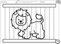 various pre-writing exercises Preschool Zoo Theme, Preschool Circus, Preschool Crafts, Letter D Crafts, Carnival Of The Animals, Kids Zoo, Writing Exercises, Animal Crafts For Kids, English Activities
