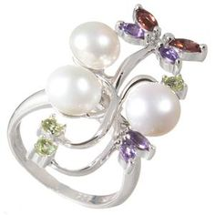 Perla Canaria <3  FRESH WATER PEARL AND SILVER RING