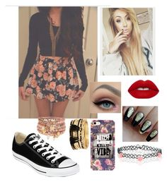 """Don't kill my vibe"" by elliethemunchkin on Polyvore featuring Converse, Lime Crime, Accessorize and Forever 21"