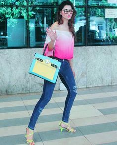 @Regrann_App from @urvashirautelaforever -  Start your day in style while travelling on a pair of blue @freddyindia WR. UP denim. Italian design now in India  Get yours now at www.freddystore.in #Airportfashion  #followme #insta #instagram #instapic #instagood #instafollow #instalife #instalike #instalove #instafashion #instafame #instafamous #lifestyle #style #model #samysays #love #peace #glam #glamour #artist #fashion #fashionista #fashionblogger - #regrann