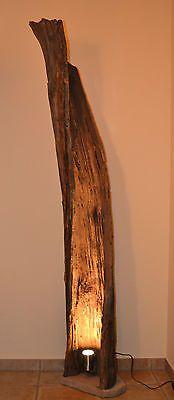 Stehlampe Lampe Beleuchtung Strahler Stehleuchte Design Leuchte Holz in Möbel & Wohnen, Beleuchtung, Lampen | eBay