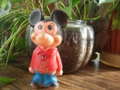 vintage Mickey Mouse plastic toy  retro 1950s by HipHistoryVintage, $8.00