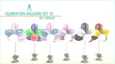 ajoya's ♦ simblr • (6) Celebration Balloons Set – Better Than Before!… | Sims 4 Updates -♦- Sims Finds & Sims Must Haves -♦- Free Sims Downloads