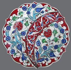 Tabak Turkish Tiles, Turkish Art, Islamic Tiles, Islamic Art, Ceramic Plates, Ceramic Pottery, Glazed Tiles, Ceramic Design, Tile Art
