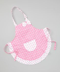 Take a look at this Pink Polka Dot Apron on zulily today!