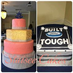 Wedding Cake Ford Cake