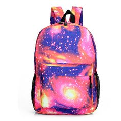 Starry Sky Canvas Backpack