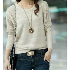 4 colors plus size 2013 Spring Cutout Loose Plus Size Outerwear Solid Color Bat Sweater Female sweaters women fashion