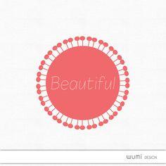 Logo - Premade & Custom logo - Beautiful logo, circle flower design, customizable watermark, modern graphic design, business template