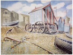 Late August Beach, Aldeburgh by Eric Ravilious, c.1938
