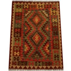 Shop for Herat Oriental Afghan Hand-woven Vegetable Dye Wool Kilim (3'6 x 4'10). Get free shipping at Overstock.com - Your Online Area Rugs Outlet Store! Get 5% in rewards with Club O!