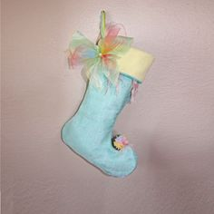 Fairy Christmas Stocking Baby Teal by BelieveinMermaids on Etsy