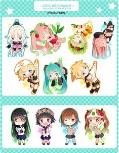 Vocaloid Chibi ^w^ Kawaii Chibi, Cute Chibi, Anime Chibi, Kawaii Anime, Manga Anime, Anime Art, Vocaloid, San Chan, Kagamine Rin And Len