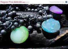 50 OFF SALE rainbow druzy bracelet by BeijoFlor by BeijoFlor, $49.50