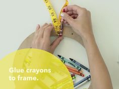 Use a letter board and crayons to make your own DIY crayon wreath. This project only takes half an hour, and it'll add color to your classroom all year. Diy Crayons, Classroom Door, Make Your Own, Letter Board, Easy Diy, Homeschool, Challenge, Crafting, Chandelier