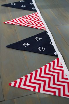 July 4th Memorial Day Patriotic Anchor Nautical Pennant Bunting Banner for Memorial Day, 4th of July, Military Events, Pirate Party, or Photo Prop by MsRogersNeighborhood Etsy shop