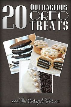 Outrageous OREO Treats perfect for Valentine's Day...Parties or just for a special TREAT any time!